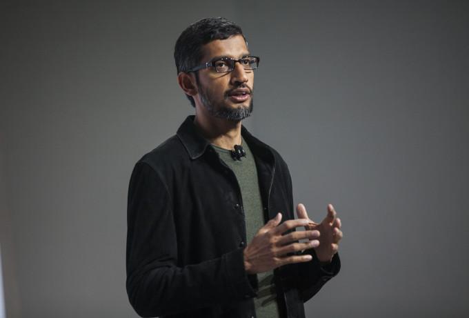 SAN FRANCISCO, CA - OCTOBER 04: Pichai Sundararajan, known as Sundar Pichai, CEO of Google Inc. speaks during an event to introduce Google Pixel phone and other Google products on October 4, 2016 in San Francisco, California. The Google Pixel is intended to challenge the Apple iPhone in the premium smartphone category. (Photo by Ramin Talaie/Getty Images)